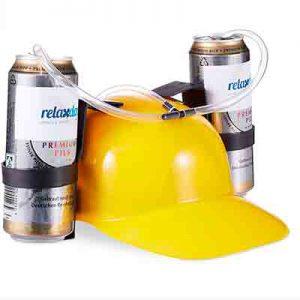casco con bebida